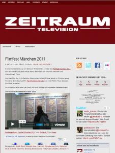 Neues Layout der Zeitraum TV Webseite