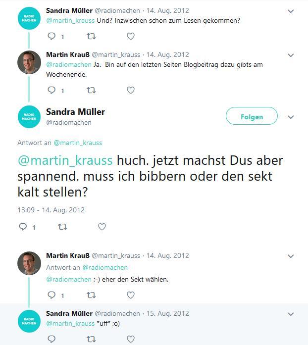 Screenshot: Tweet-Wechsel zwischen @martin_krauss und @radiomachen (Teil 2)