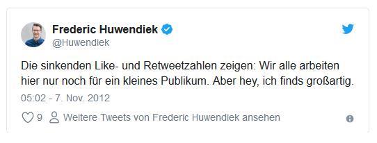 Screenshot: Tweet von @Huwendiek zur US-Wahl 2012