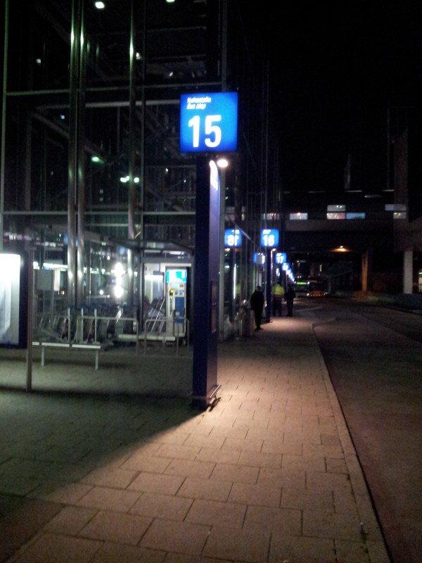 Busbahnhof am Frankfurter Flughafen Terminal 1