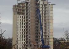 Abriss der Wohntürme auf dem Campus der Hochschule Darmstadt in Dieburg | Foto: Martin Krauß