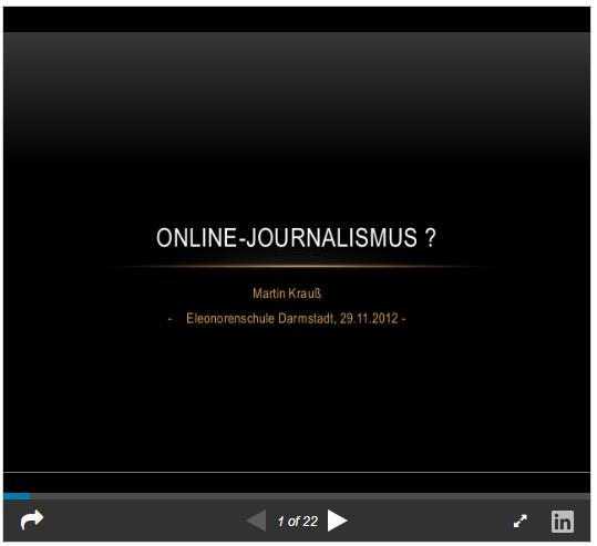 """Screenshot: Präsentation """"Online-Journalismus?"""" von Martin Krauß auf Slideshare.net"""