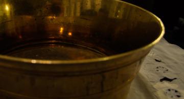 Taufbecken der evangelischen Kirchengemeinde Messel |Foto: Martin Krauß