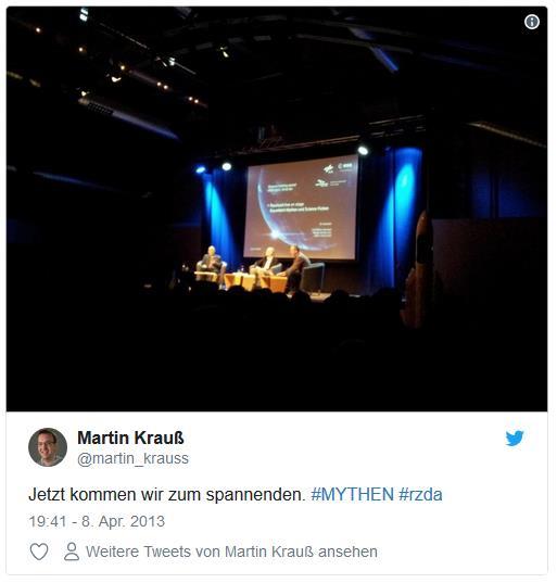 Screenshot: Tweet von @martin_krauss zu Raumzeit in Darmstadt