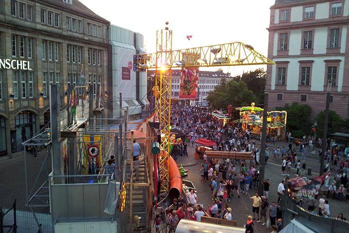 Blick vom Riesenrad in Richtung Ernst-Ludwigs-Platz