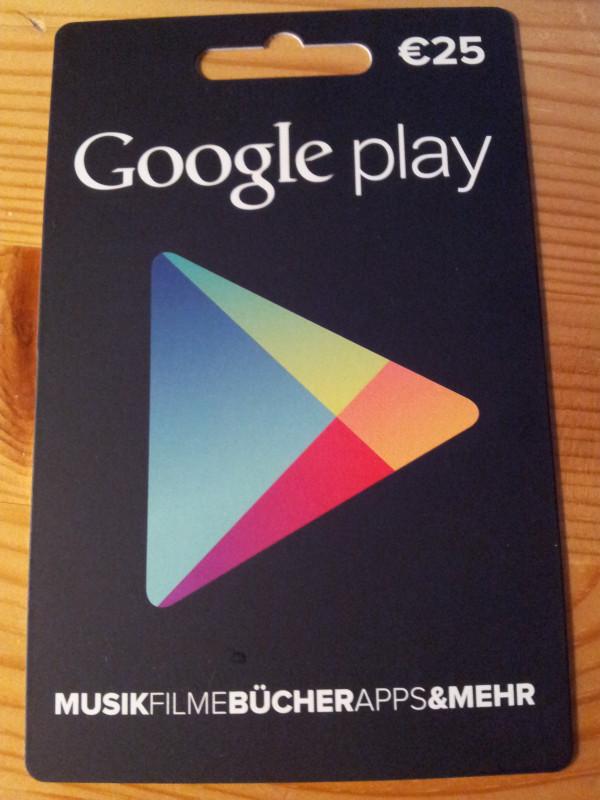 """Eine """"Google play""""-Guthabenkarte im Juli 2013"""