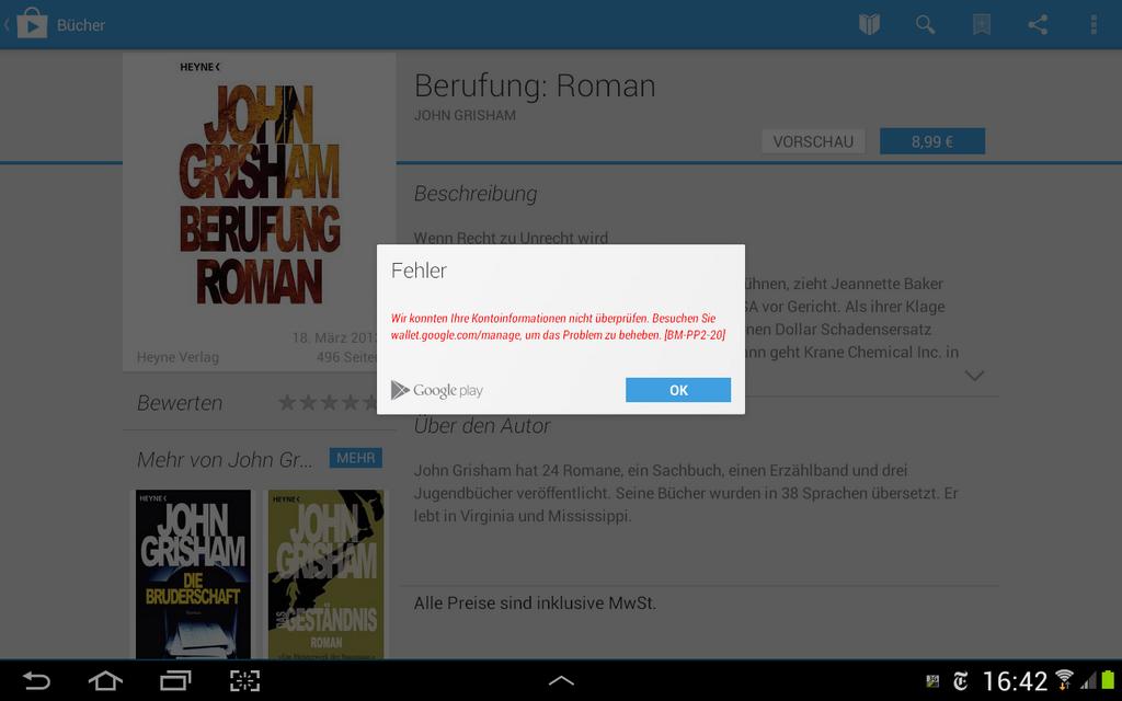 Google Play: Fehler BM-PP2-20