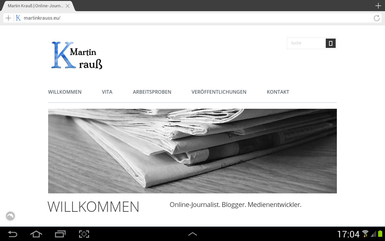 Screenshot: martinkrauss.eu