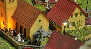 Modelleisenbahn Häuserzeile