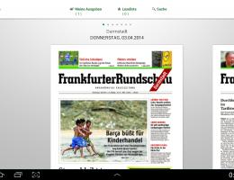 "Kioskansicht der neuen ""FR Digital"" App für Android-Tablets | Screenshot: 04.04.2014"