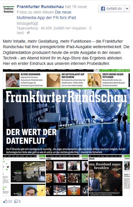 Facebook-Post Frankfurter Rundschau